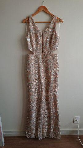 Vestido de festa nude - tamanho 42 - Foto 2
