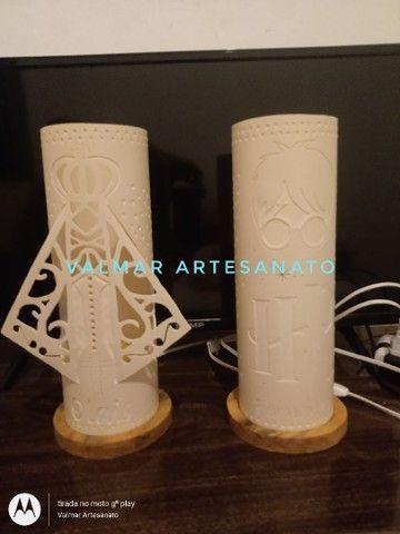Abajures ( luminárias ) em pvc  - Foto 6