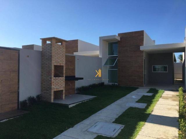 Casa Plana com 2 dormitórios sendo 1 suíte à venda, 63 m² por R$ 185.000 - Mangabeira - Eu