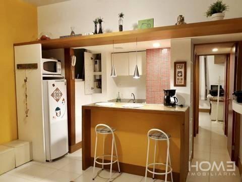 Lindo apartamento mobiliado 1 dormitório à venda, 40 m² por R$ 550.000 - Copacabana - Rio  - Foto 2
