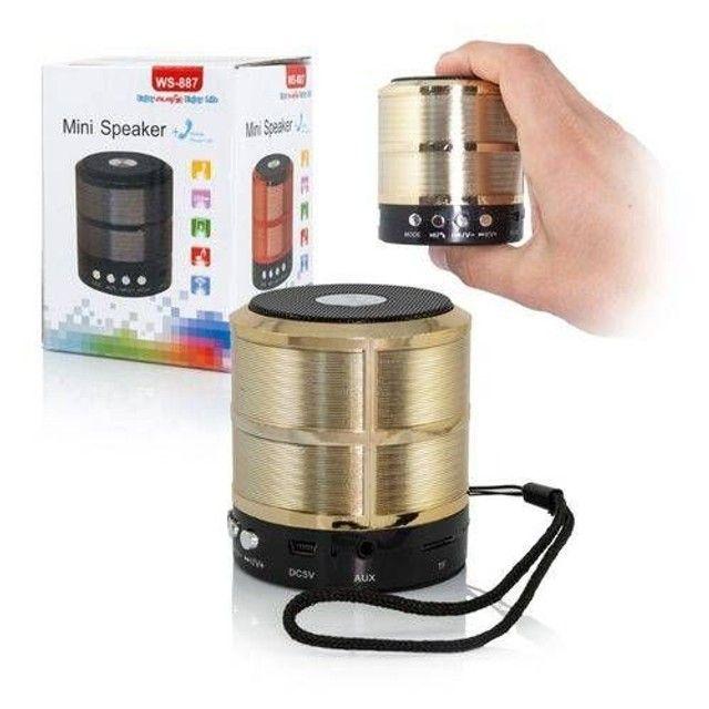 Mini Caixa De Som Portátil Speaker Ws-887 (NOVO) - Foto 3