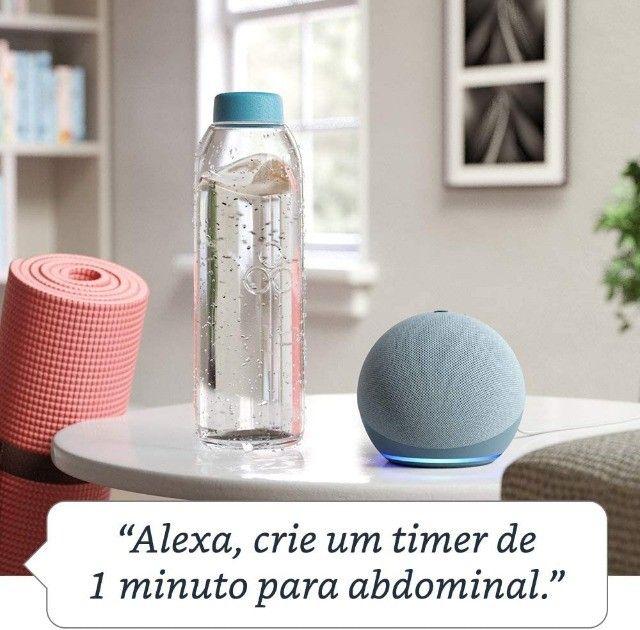 Alexa Echo Dot 4 Geração Original Amazon Lacrada em Portugues - Foto 5