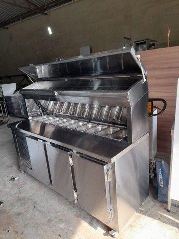 Condimentadora Refrigerada balcão Inox sob medida  - Foto 2