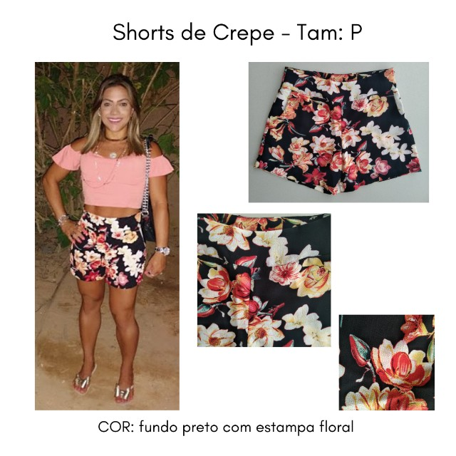 Shorts (Crepe) Estampado - P - Foto 5