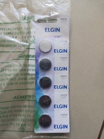 5 Bateria Pilha Botão CR2016 Lítio 3v Elgin