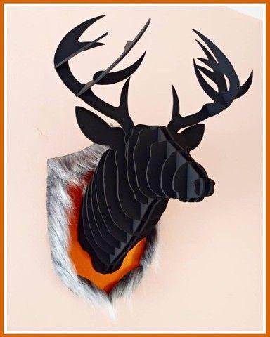 Troféu de Parede Cervo Negro 3D