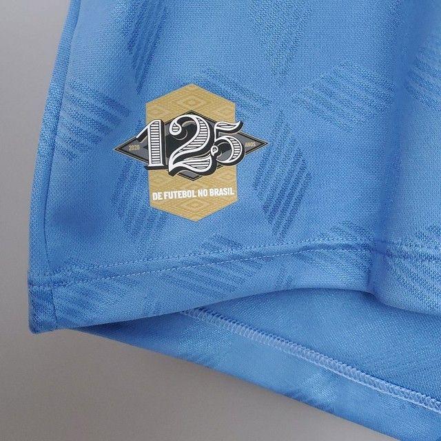 camisa do Grêmio nº 3 em comemoração aos 125 anos de futebol no brasil - Foto 4