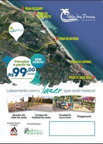 Loteamento pertinho da praia | com parcelas a partir de R$ 99,00!
