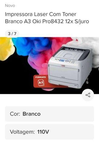 Empresora oki Pro 8432 A3 Toner Branco  - Foto 5