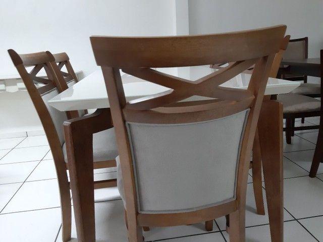 Imperdivel-Mesa retangular+ 6 cadeiras modelo terra  - Foto 3