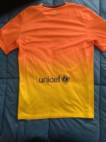 Camisa Barcelona Temporada 2012/2013 Tamanho P - Foto 2