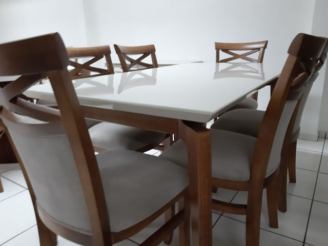 Imperdivel-Mesa retangular+ 6 cadeiras modelo terra  - Foto 5