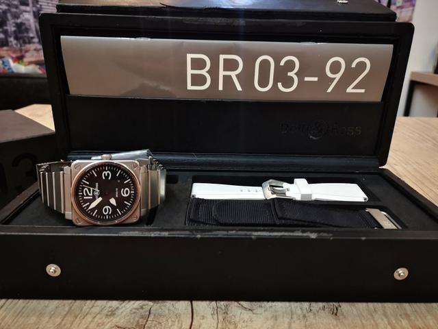 ff57faabaf1 Relógio Bell and Ross BR03-92 automático completíssimo au