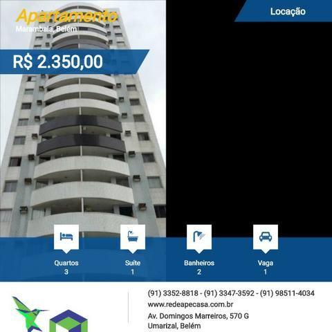 Aluga-se excelente apartamento no Edício Arte Cristal localizado no bairro de marambaia
