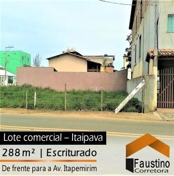 Excelente terreno comercial, de frente para a Avenida Principal em Itaipava