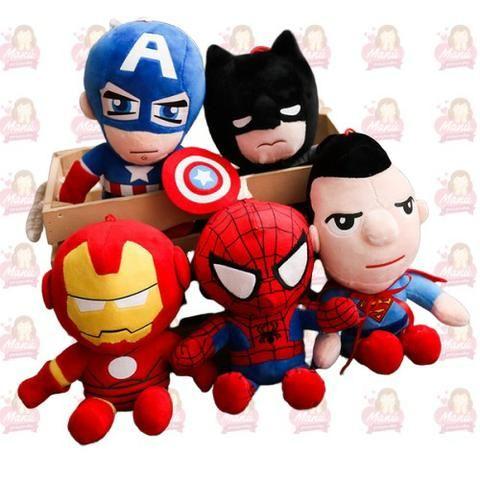 Super Heróis em Pelúcia - Kit com 5 Unidades
