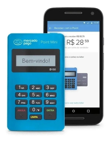 Maquinha Mercado Pago Point Mini 3 anos de garantia , para retirar ou entrega a cobrar - Foto 2