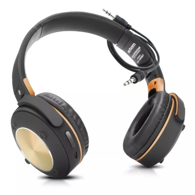 R$124,90 - Headphone Fone De Ouvido Exbom Hf-500bt Bluetooth Sem Fio