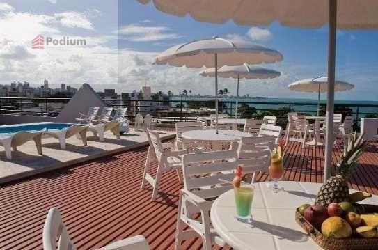 Loft à venda com 1 dormitórios em Tambaú, João pessoa cod:14585