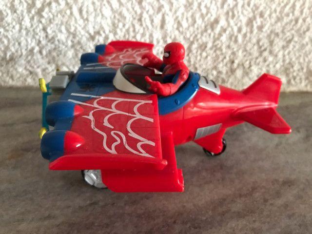 Avião aranha Marvel homem aranha spiderman Imaginext  - Foto 2