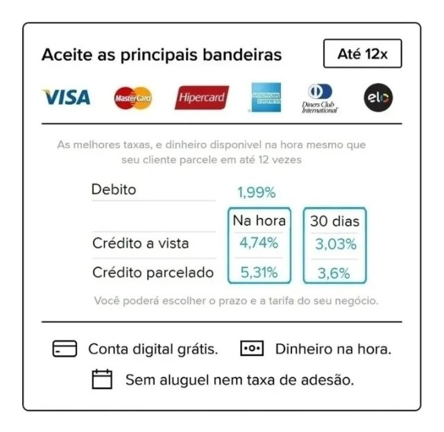 Maquinha Mercado Pago Point Mini 3 anos de garantia , para retirar ou entrega a cobrar - Foto 3