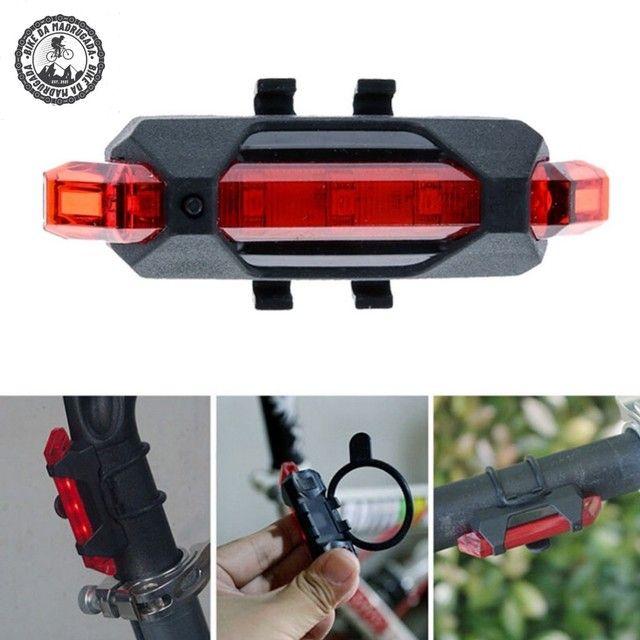 Promoção Farol lanterna LED traseiro para bike - Foto 4