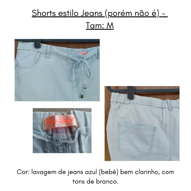 Short (imita jeans) M - Foto 4