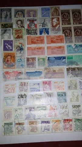 selos moedas e cédulas antigas
