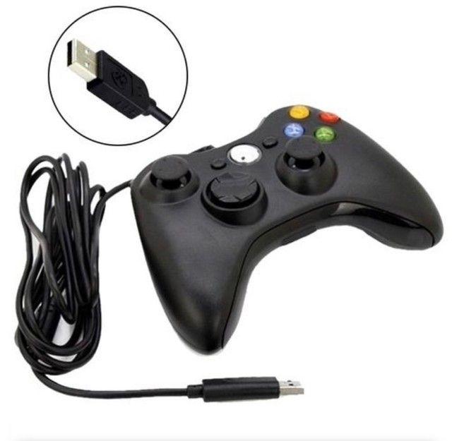 Controle Xbox 360 Pc Joystick Com Fio 2.5m *NOVO* - Foto 2