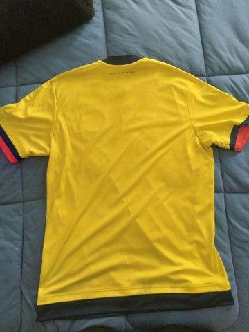 Camisa Seleção Da Colombia Usada - Tamanho M - Foto 2