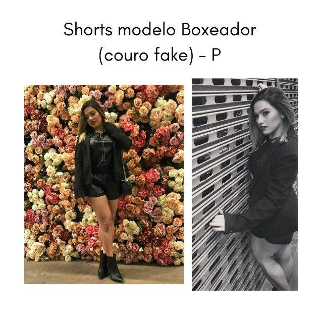 Shorts Boxeador Couro (fake) -P - Foto 2
