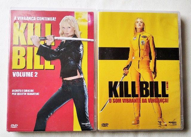 Dvd Kill Bill Volume 1 E 2 Com Selo De Locadora - Foto 2