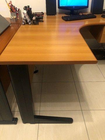 Mesa Escritório Em L C/ Gavetas (1,40m X 1,40m) - Foto 2