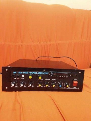 Amplificador de som pré Power bluetooth USB sd