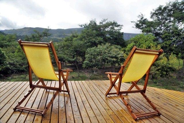Vale do Capão Casa Artística 15 mil m2 com rio 2 quartos a menos de 1km da vila - Foto 2