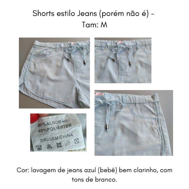 Short (imita jeans) M - Foto 6