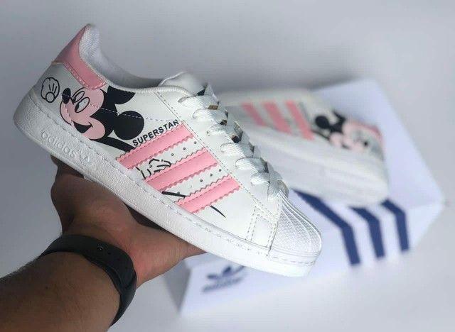 Vendo tênis Adidas slip on elástico e super star ( 115 com entrega) - Foto 2