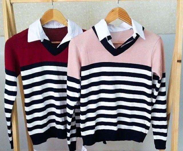 Casacos em tricot modal  - Foto 3