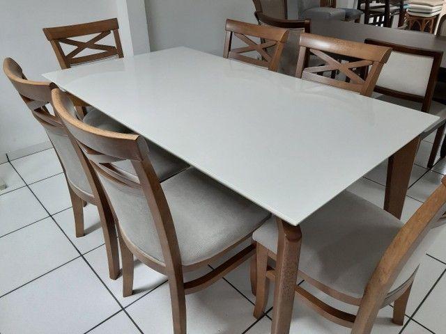 Imperdivel-Mesa retangular+ 6 cadeiras modelo terra  - Foto 6