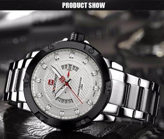 3363d7904c5 Relógio Masculino Naviforce 9085 - Original - Pronta entrega - Novo - Foto 5