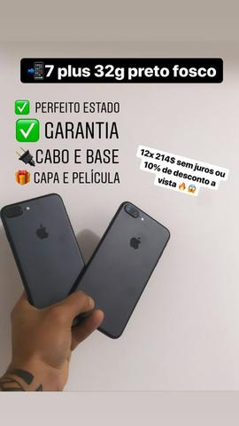 IPhone 7 Plus 32 g preto e branco ( silver )