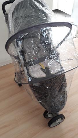 Capa de chuva para carrinho 3 rodas - Foto 3