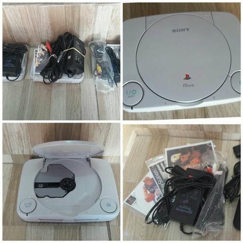 Playstation 1 One 1 controle 3 jogos desbloqueado