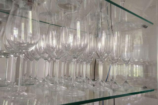 Vendo taças de cristal: vinho, água e martini marca Bohemia