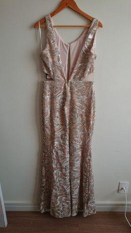 Vestido de festa nude - tamanho 42 - Foto 3