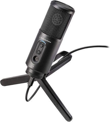 Microfone Audio Technica ATR2500x USB Cardioide Condensador USB +abafador