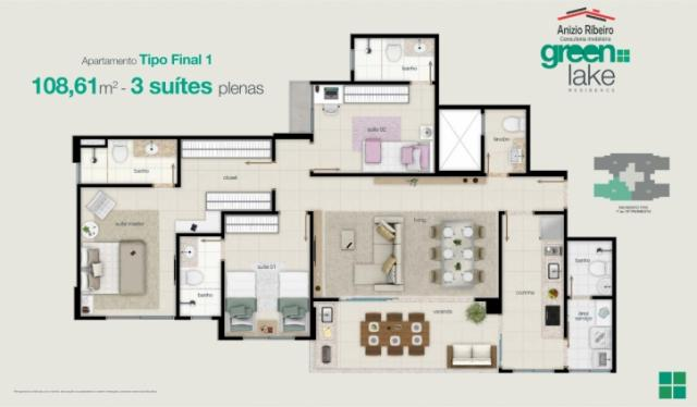 Apartamento na 207 Sul - Green Lake Residence - Foto 7