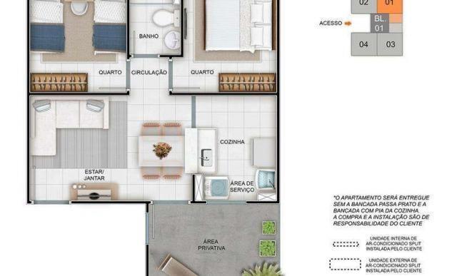 Parque Porto Santa Fé - Apartamento de 2 quartos em Sapucaia do Sul, RS - ID3762 - Foto 8