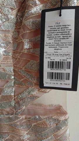 Vestido de festa nude - tamanho 42 - Foto 6