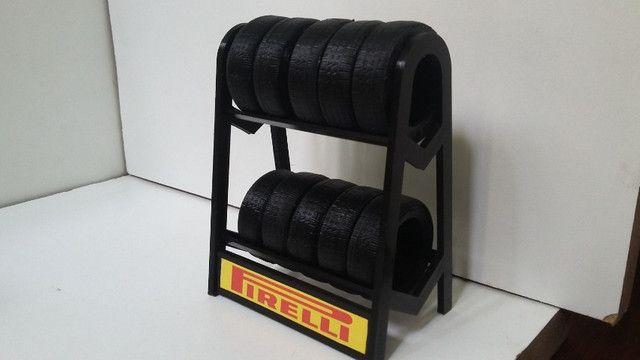 Miniatura Rack com pneus escala 1:18 - Foto 6